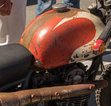 Motorcycle, Oldtimer, Rat-bike, Two Wheeled Vehicle