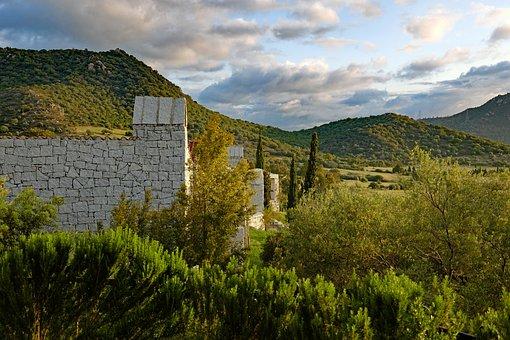 Sardinia, Mountains, Landscape, Sky, Clouds, Home, Wall