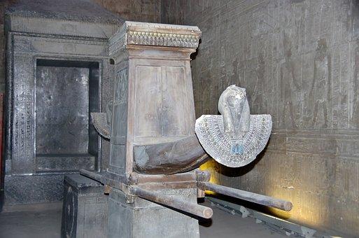 Egypt, Edfu, Naos, Egyptian Temple, Sacred Bark
