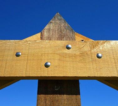 Wooden Gate, Gate, Plank, Rivet, Grain, New Wood