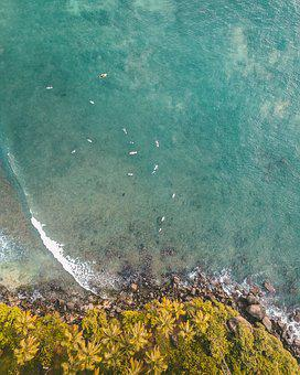 Aerial, Sea, Ocean, Water, Coast, Island, Beach, Shore