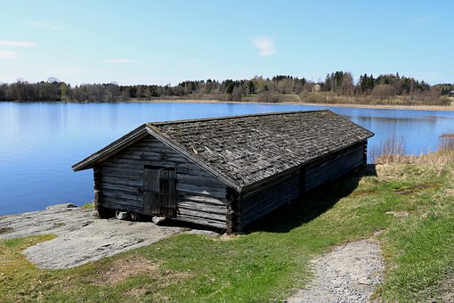 Old Vevevaja, The Church Boat Shed, Lake, Finnish