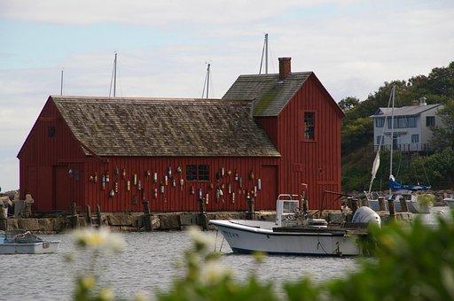 Fisherman's House, Sea, Port, Fishing, Usa