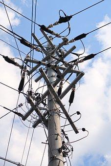 Utility Pole, Power Line, Industrial