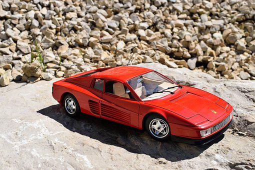 Car, Red, Sports Car