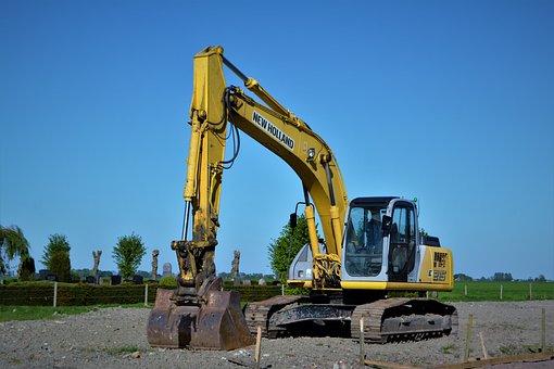 Excavators, New Holland, Site, Construction Machine