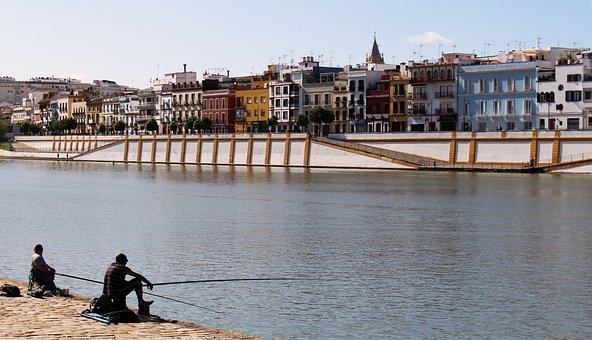 Seville, Spain, River, Guadalquivir, Triana