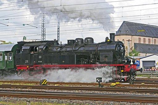 Steam Locomotive, Exit, Full Steam, Cylinder Steam