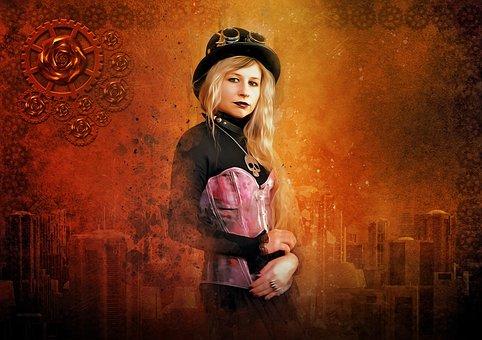 Steampunk, Fantasy, Futuristic, Scifi, Sci-fi, Portrait