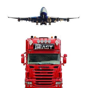 Truck, Plane, Tr, Transportation, Transport, Cargo