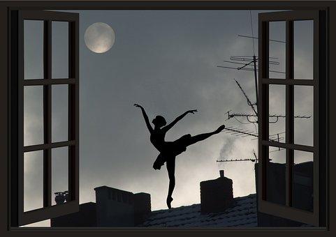 Moon, Moon Addicted, Universe, Ballerina, Dancer