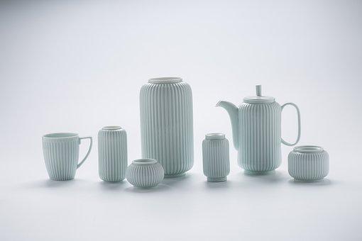 Ceramics, Vase, Tea Set, Teapot