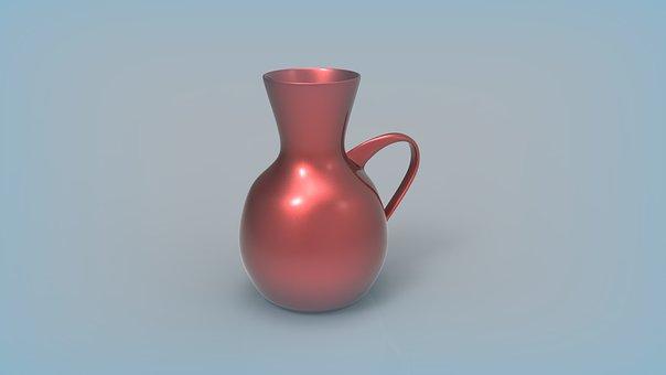 Vase With Handle, Tableware, Decorative Tableware, Vase