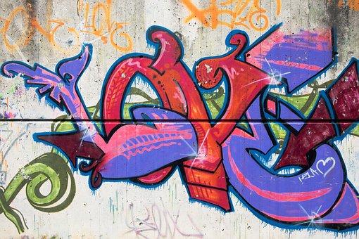 Graffiti, Wall, Walls, Stone, Spray, Sprayer, Vandalism
