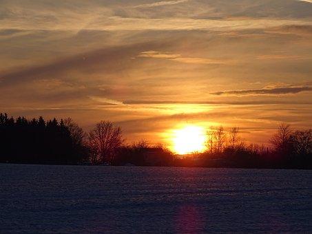 Sun, Winter, Snow, Nature, Cold, Landscape, Wintry