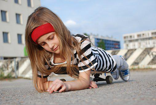 Girl, Skateboard, Beautiful Girl, Kids, Fashion