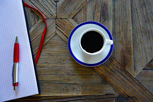 Coffee Cup, Coffee, Cup, Block, Pen, Office, Business