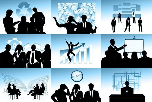 Company, Personal, Silhouettes, Businessman