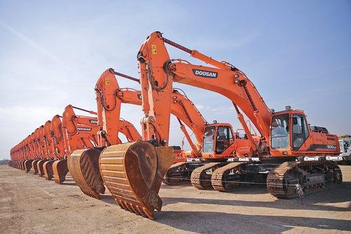 Construction, Excavator, Civil, Power
