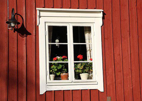 Window, Old, Cottage, House, Screen Window