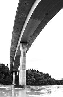 Bridge, Swinging, Pillar, Bridge Construction, Curves