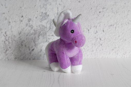 Unicorn, Toy, Cuddly, Cute, Animal, Fun, Fantasy, Magic