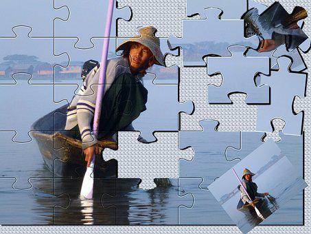 Puzzle, Puzzles, Burma, Lake Inle, Fun Activities