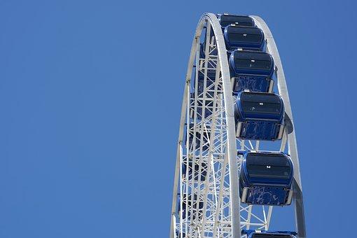 Ferris Wheel, Sky, Carousel, Year Market, Fair, Fun