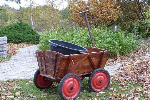Stroller, Gardening, Handcart, Out, Garden Tools