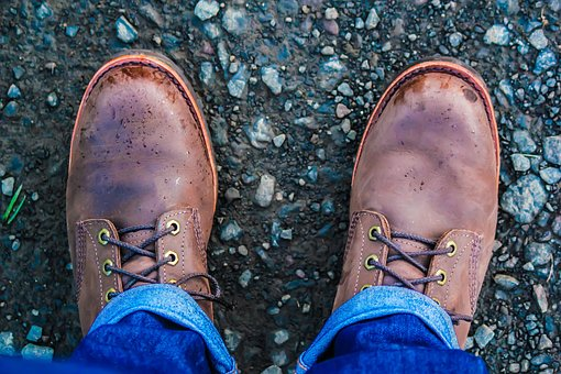 Boots, Hipster, Work, Rocky, Trail, Jeans, Feet