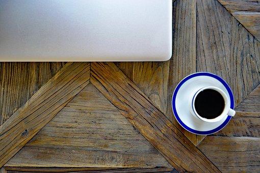 Office, Job, Work, Notebook, Laptop, Coffee Cup, Career