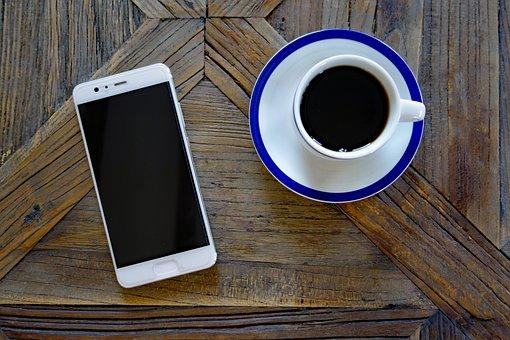 Smartphone, Mobile Phone, Mobile, Huawei, Coffee Cup