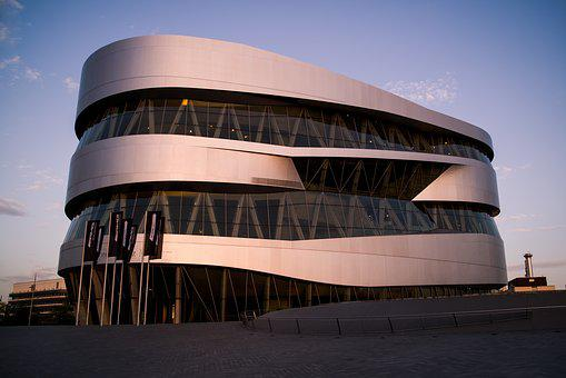 Mercedes, Mercedes Benz, Daimler, Museum, Evening Light