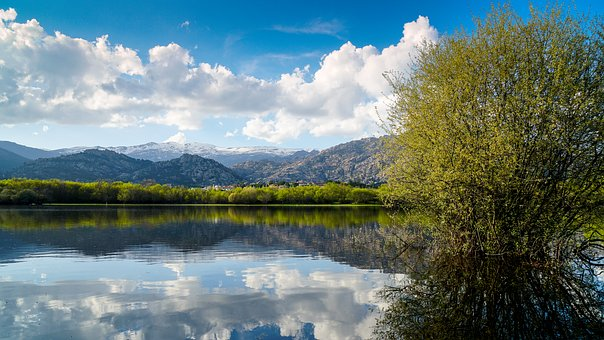 Manzanares El Real, Pedriza, Madrid, Reservoir, Sky