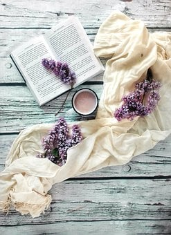 Book, Lilac, Flowers, Cocoa, Drink, Reading, Hobby