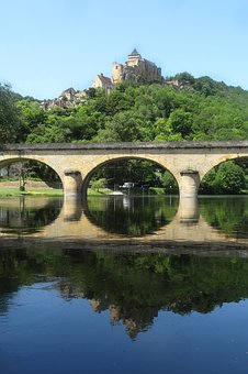 Dordogne River, River, Dordogne, Valley, Bridge, France