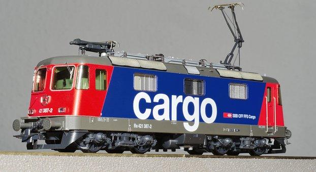 Electric Locomotive, Model, Scale H0, Model Railway