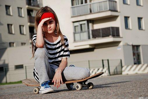 Wheels, Board, Girl, Sports, Skate, Speed, Trick