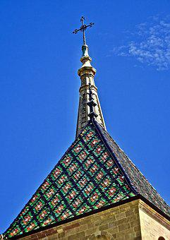Spire, Steeple, Church, Roof, Exterior, Religious