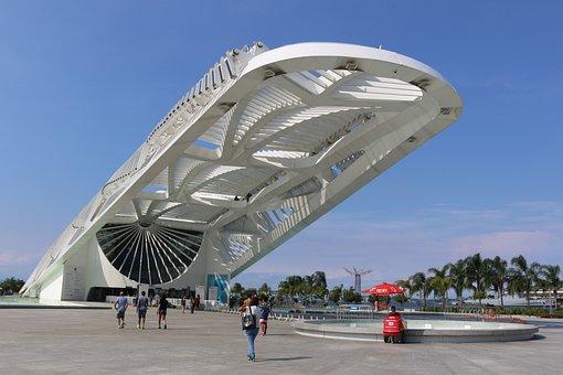Museum Tomorrow, Museum, Tomorrow, Rio, Brazil, Sky