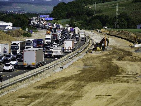 Jam, Site, Highway, Excavators, Underground, Traffic