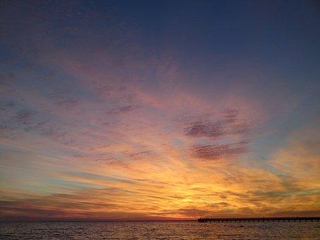 Sunset, Florida, Usa, Sun, Nature, Sky
