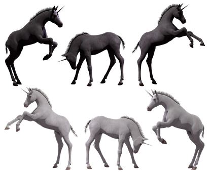 Unicorn, Foal, Colt, Filly, Young, Fantasy, Horse, Pony