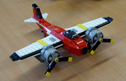 Lego Blocks, Assembled, Building Blocks, Aircraft