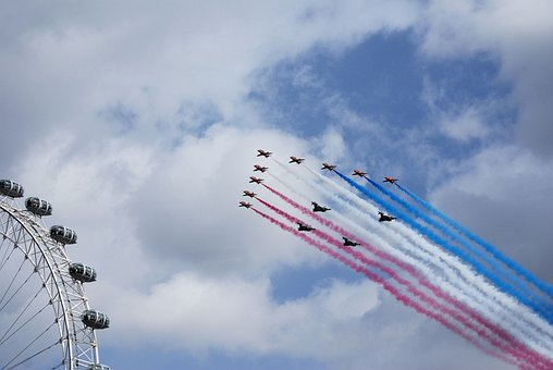 Red Arrows, Aerobatics, Formation, Bae Hawk Trainer