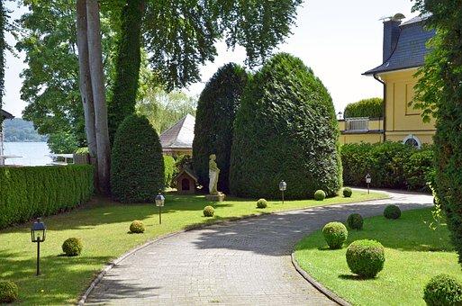 Villa, House, Building, Garden, Property, Live, Trees