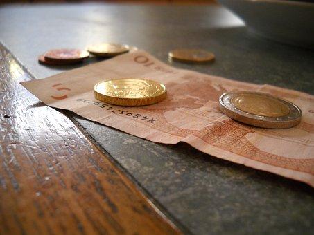Money, Cash, Coins, Dollars, Bills, Euro