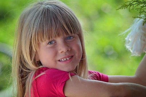 Child, Girl, Human, Person, Face, Blond, Long Hair