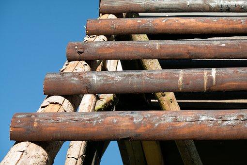 Head, Wood, Perch, Wooden Ladder, Staircase, Bar, Climb