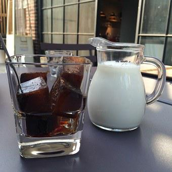 Coffee, Milk, Afternoon, Ice